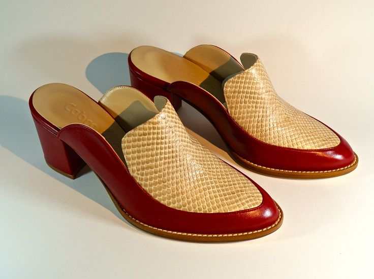 Hand-Made Leather Footwear. Lamb's Leather with snake scale Leather. LM-006