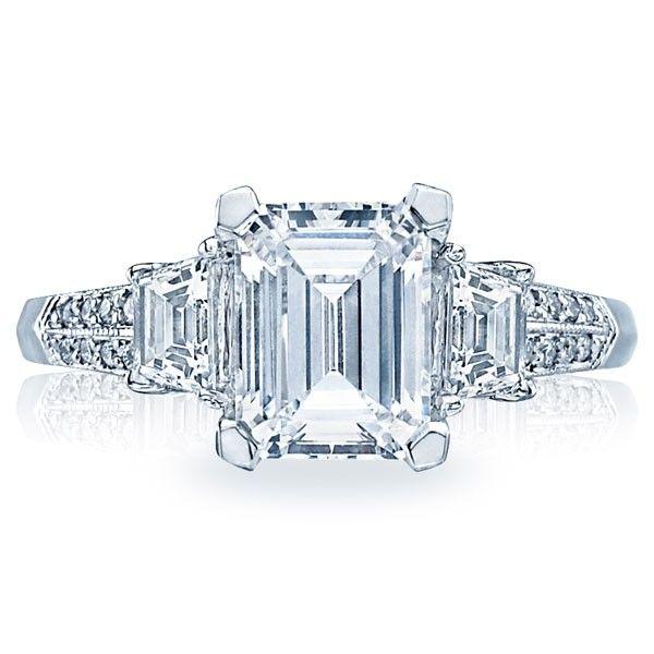 Wedding Ring Mounts 98 Cute Emerald cut engagement rings