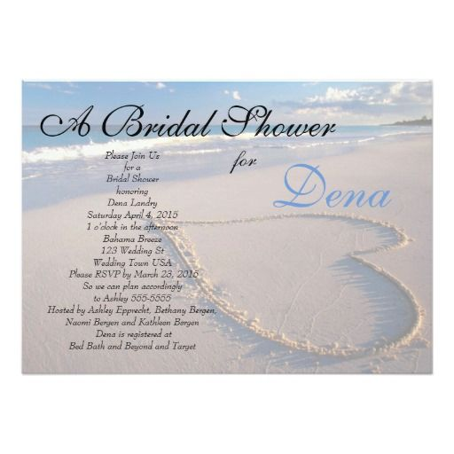 283 best beach bridal shower invitations images on pinterest beach theme bridal shower invitation filmwisefo