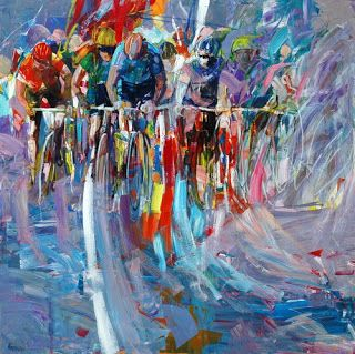 Cycling Art by Antonio Tamburro.>>>Thanks to the pinner for sharing this pin. MAKETRAX.net - Bicycle ART
