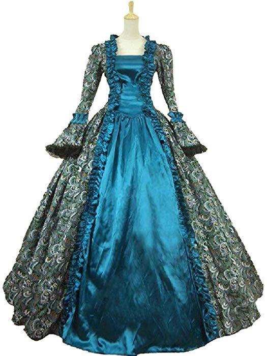 Colonial Georgian Penny Dreadful Victorian Dress Gothic Period Ball
