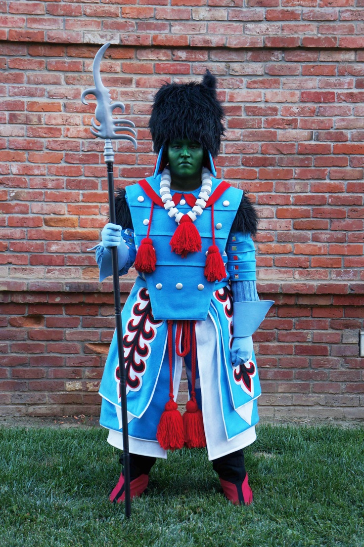 The costume I made for my son this year (2012). The Winkie Guard from the Wizard of Oz. Makeup by Vanessa Garcia