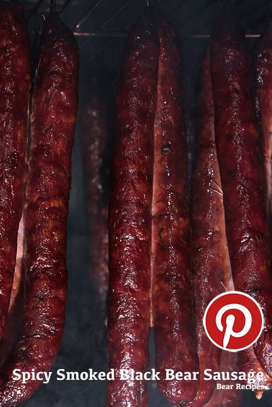 Spicy Pimenta Smoked Bear Sausage Recipe. I would eat a bear.