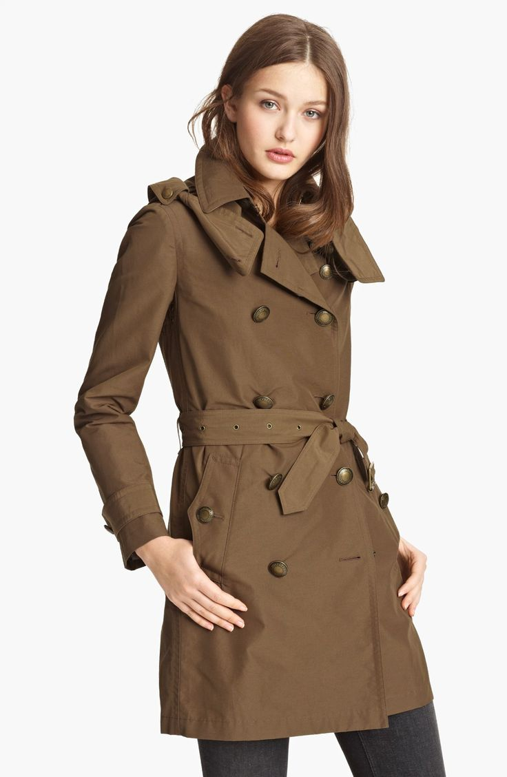Perfect Womens Trench Coat : Brit Dark Flax Balmoral Trench Coat