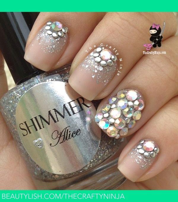Crystal studded nails