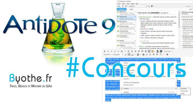 Concours : 3 licences du logiciel de correction Antidote 9 à gagner sur Byothe.fr