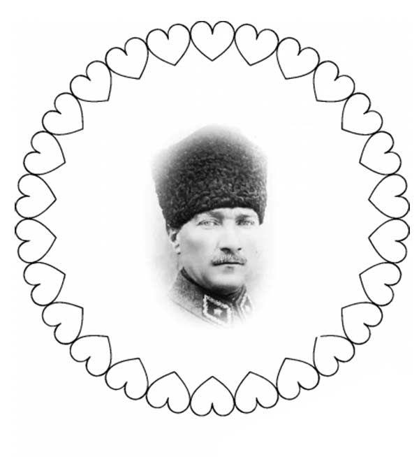 29 Ekim Cumhuriyet Bayrami Ataturk Kalibi Egitimsel Elisleri Mandala Boyama Sayfalari