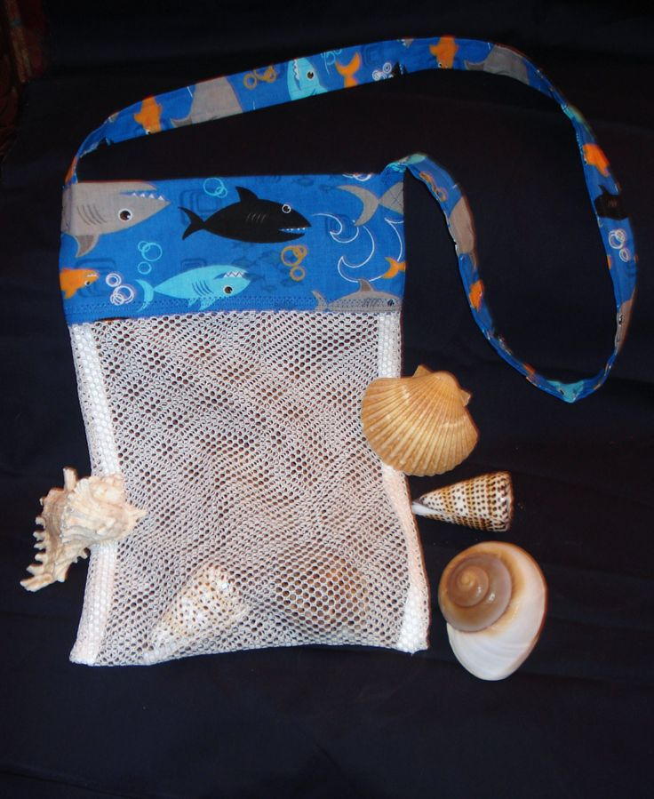 Seashell collecting bags for kids seashell collecting for Bag of seashells for crafts