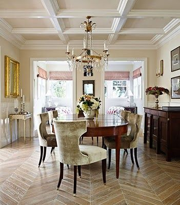 Decorative ceiling beams -- perhaps a way we can hide electrical and finally have overhead light in the dining and living room!