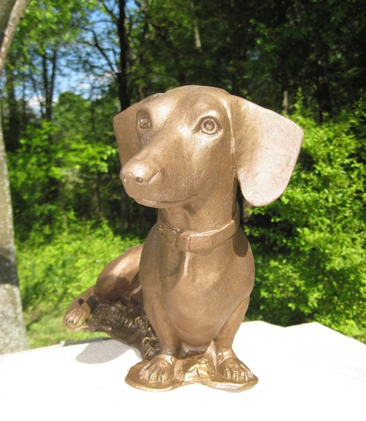 Maggie ... Miniature Dachshund Sculpture. $195.00, via Etsy.