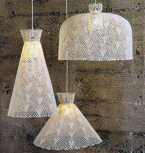 Lace lampshades.