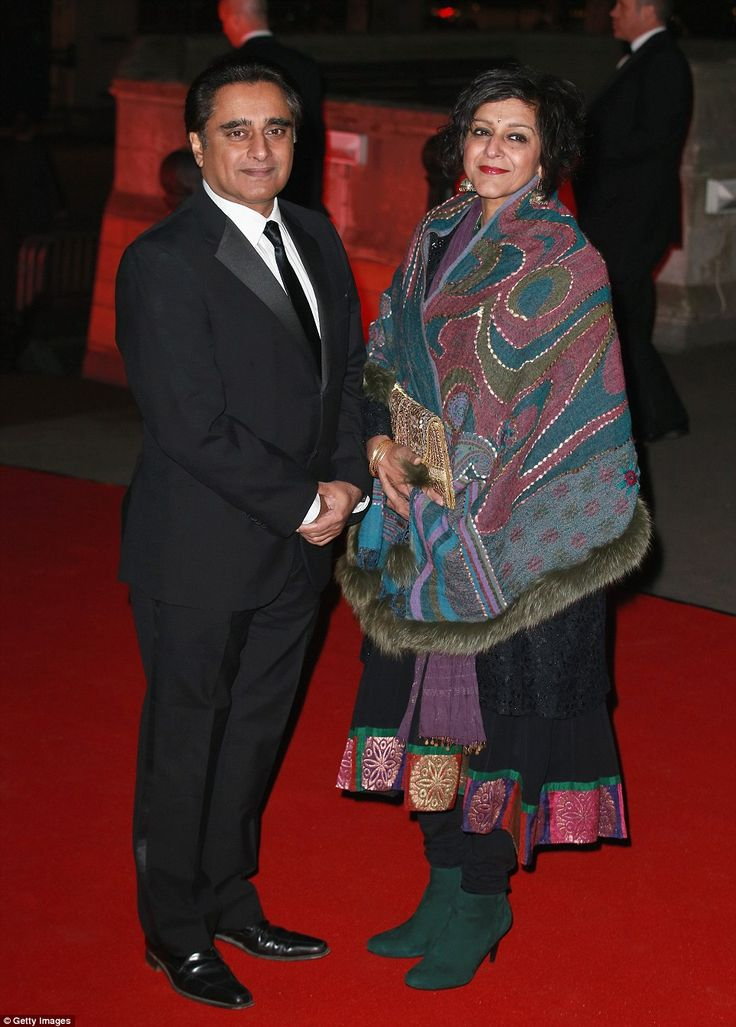 Sanjeev Bhaskar and Meera Syal arrive for a reception and dinner for supporters of The Bri...