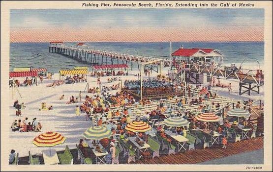 11 best images about pensacola post cards on pinterest for Pensacola beach fishing