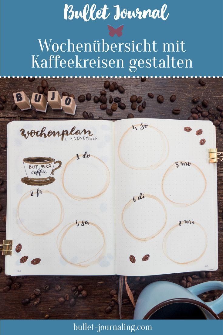 BULLET JOURNAL IDEEN Für Coffee Lovers! Ein ganzes Bujo Monats Set Up im Kaffee Look: In diesem Blogpost zeige ich dir mein Bullet Journal im Novembe…