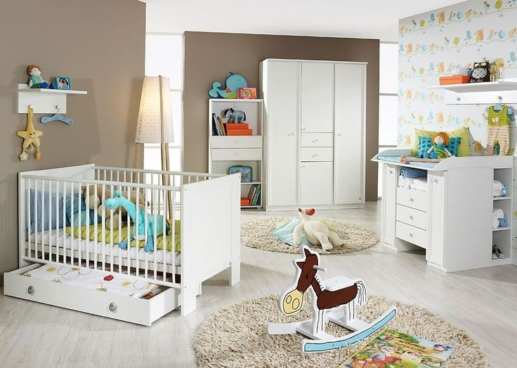 komplett babyzimmer gnstig elegant babyzimmer komplett set kim in wei komplettset mit grossem. Black Bedroom Furniture Sets. Home Design Ideas