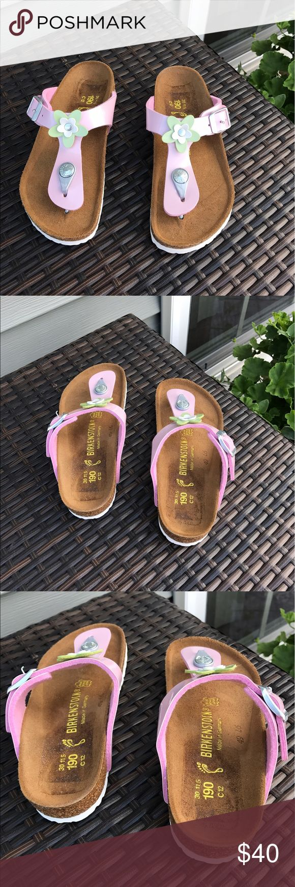 Birkenstock Gizeh Sandal Birkenstock Kids Gizeh Sandal light pink with flower. Size C12 or 30 NARROW. Brand new! Birkenstock Shoes Sandals & Flip Flops