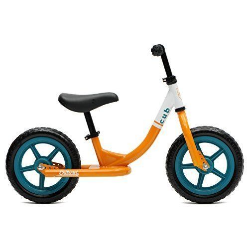 Kids Bike Cub No Pedal Balance Riding Steel Frame Training Wheels Orange Teal #CriticalCycles