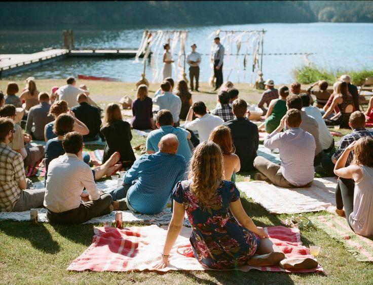 Canoe lake wedding as seen on @offbeatbride