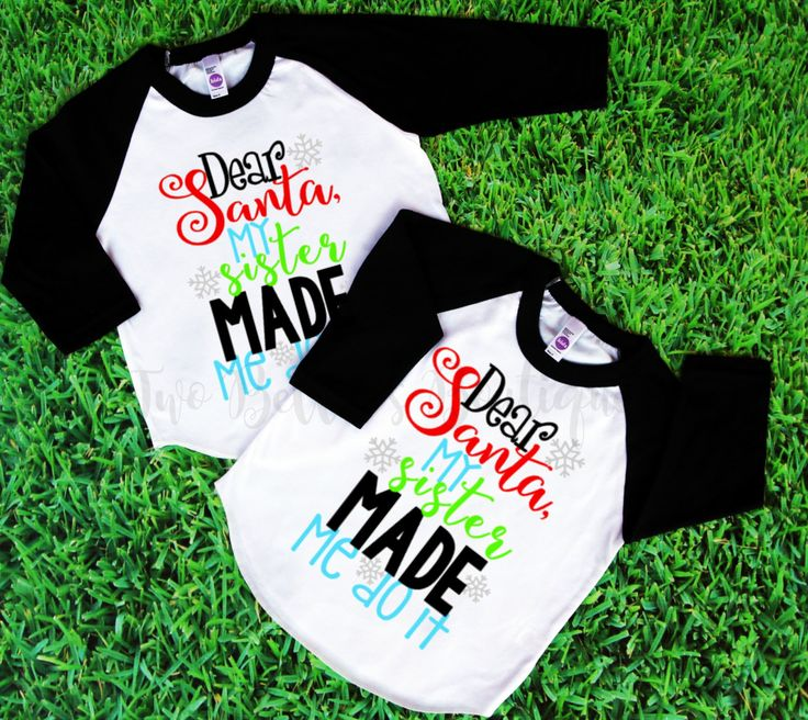 Christmas Sibling shirts - Twin Christmas - Matching Sister shirts - Matching Sibling shirts - Matching Sister outfits - Matching Christmas by TwoBellasBoutique on Etsy