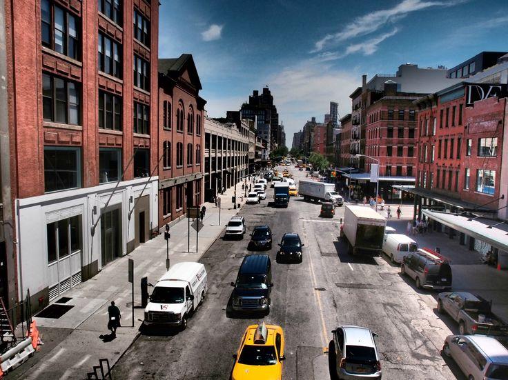 High Line ve městě New York, NY