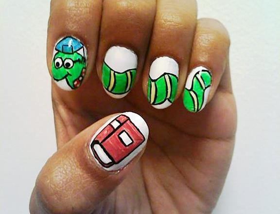 58 best back to school nail designs images on pinterest nail cute book worm back to school nails prinsesfo Gallery