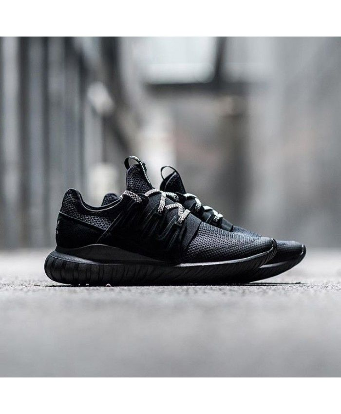 079d83596b9d Adidas Tubular Radial Trainers In Core Black Vintage White