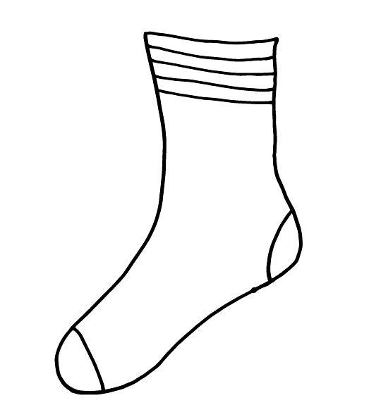 socks for fox printable for your Dr. Seuss Fox in Socks
