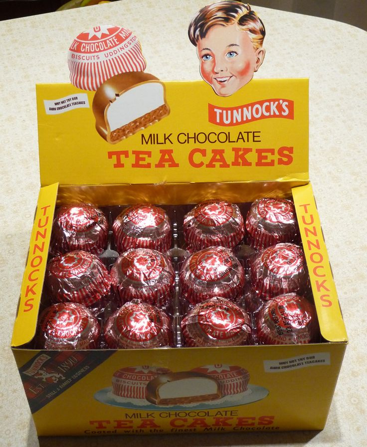 Tunnocks Tea Cakes - Scotland's iconic chocolate biscuit invented by Thomas Tunnock in 1890. A Tunnocks caramel wafer dipped in a cup of tea is one of our favourite treats.