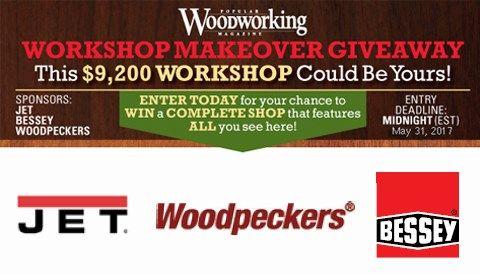 2017 Popular Woodworking Workshop Makeover Giveaway