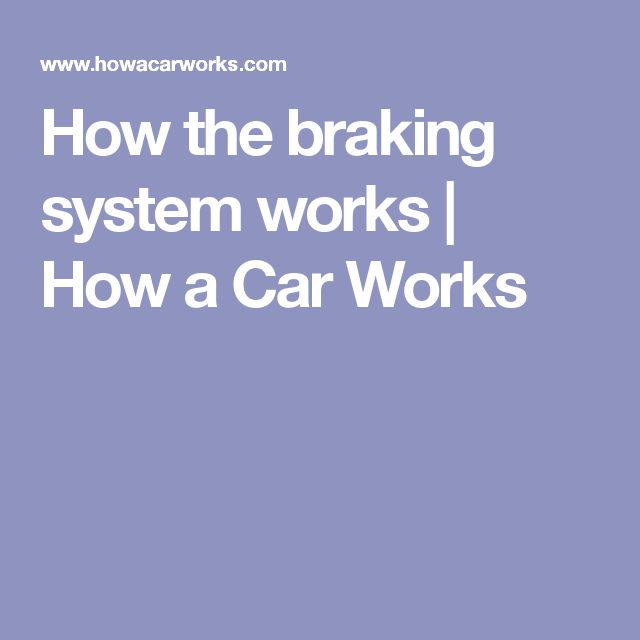 How the braking system works | How a Car Works