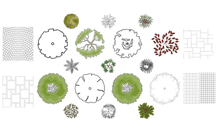 free landscape symbols autocad