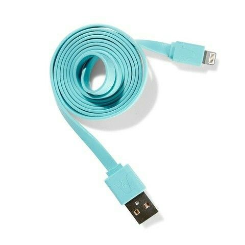 Flat USB to Micro USB Cable - Teal $4.00