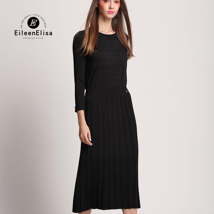 Wool Sweater Dress Cashmere Women Dress Loose Long Sleeve Autumn Spring Dress