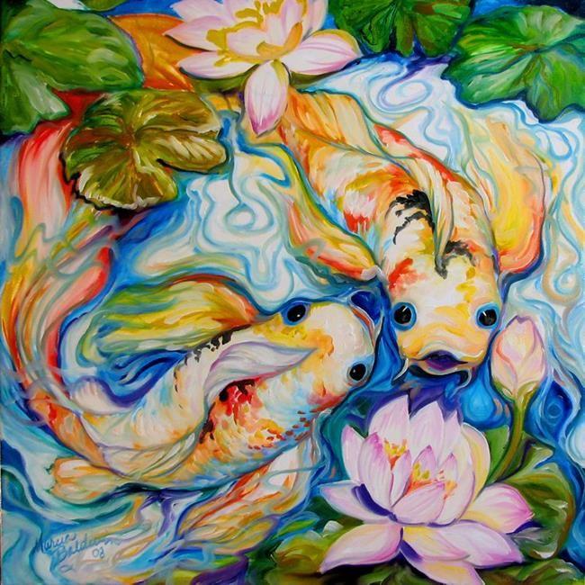 51 best joseph raffael artwork images on pinterest for Koi pond art