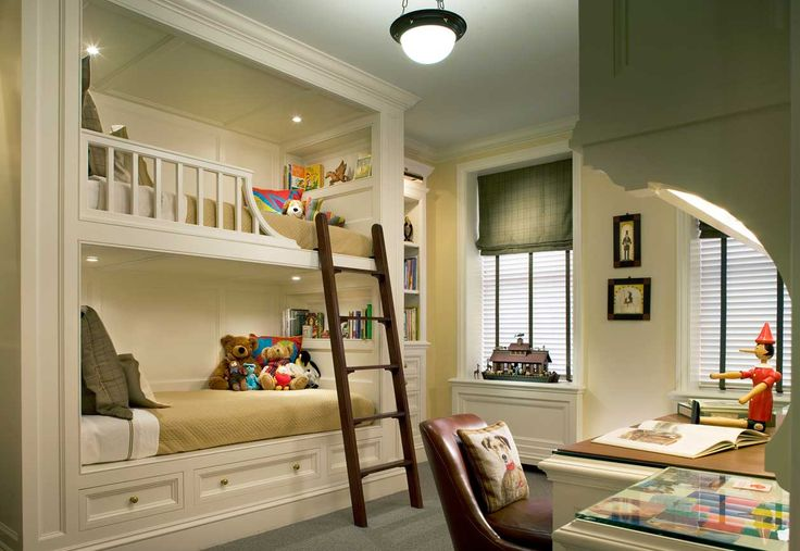 Children's bedroom with bunk beds - John B. Murray Architect