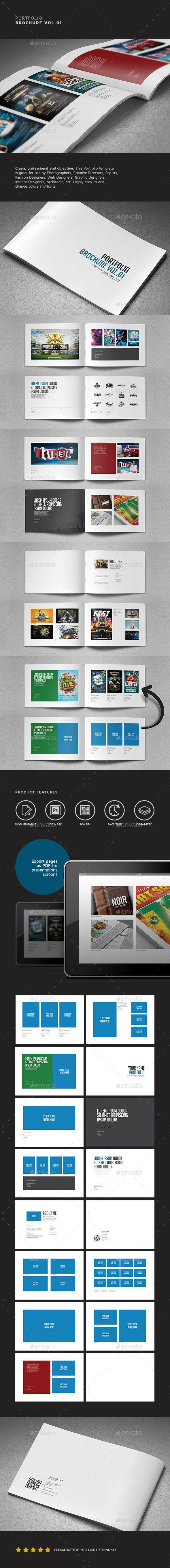 Portfolio Brochure Vol.01  #lines #logo #minimal • Available here → http://graphicriver.net/item/portfolio-brochure-vol01/7103852?s_rank=128&ref=pxcr