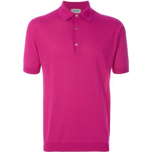 John Smedley 'Adrian' polo shirt ($195) ❤ liked on Polyvore featuring men's fashion, men's clothing, men's shirts, men's polos, pink, mens cotton shirts, mens polo shirts, men's cotton polo shirts, mens pink polo shirt and mens pink shirts