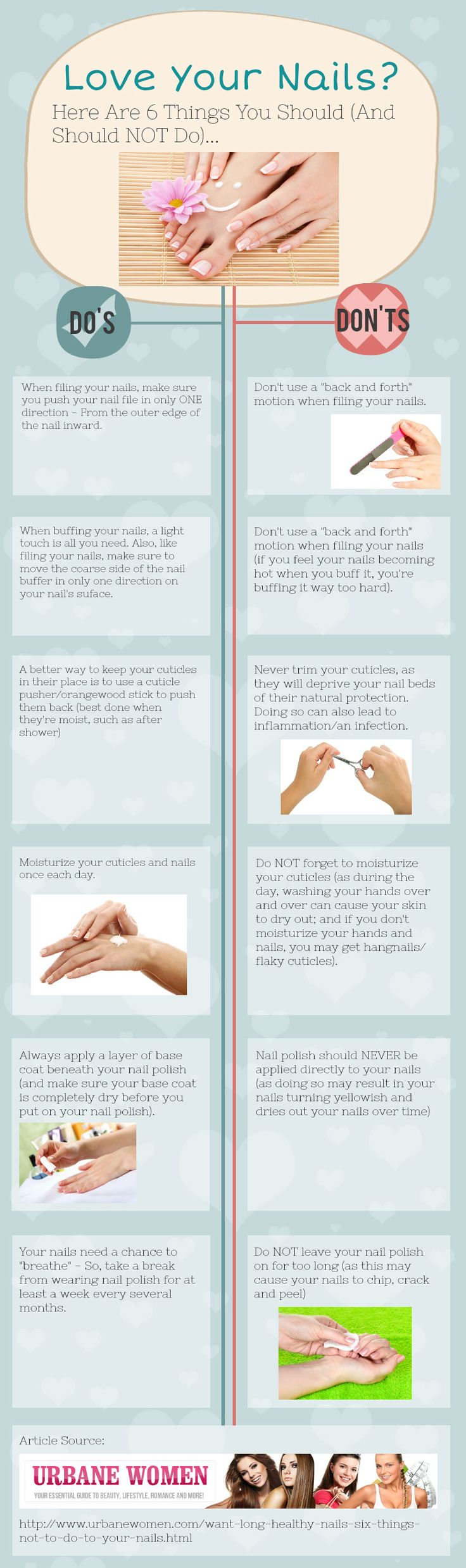 The Do's and Don'ts of taking care of your nails - everyone should know these things