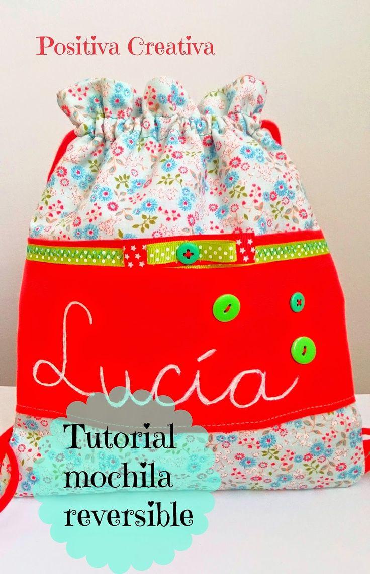 Tutorial mochila reversible | Aprender manualidades es facilisimo.com