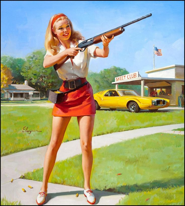 Gil Elvgren.: Waterfowl Hunt'S, Gilelvgren, Muscle Cars, Guns Control, Bangs Bangs, Pinup, Gil Elvgren, American Dreams, Pin Up Girls