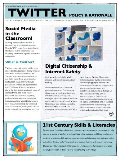 Twitter Policy and Rationale in K-8 School