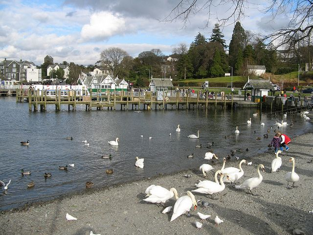 Bowness Pier, Lake Windermere, Lake District. We stood in that exact place last February when we went on holiday there