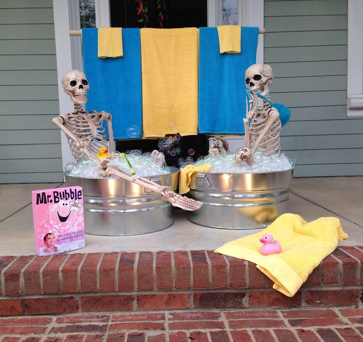 halloween house decorating ideas the baxter skeletons