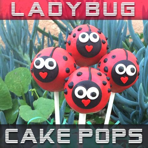 How To Make Ladybug Cake Pops ~ Sugarkissed