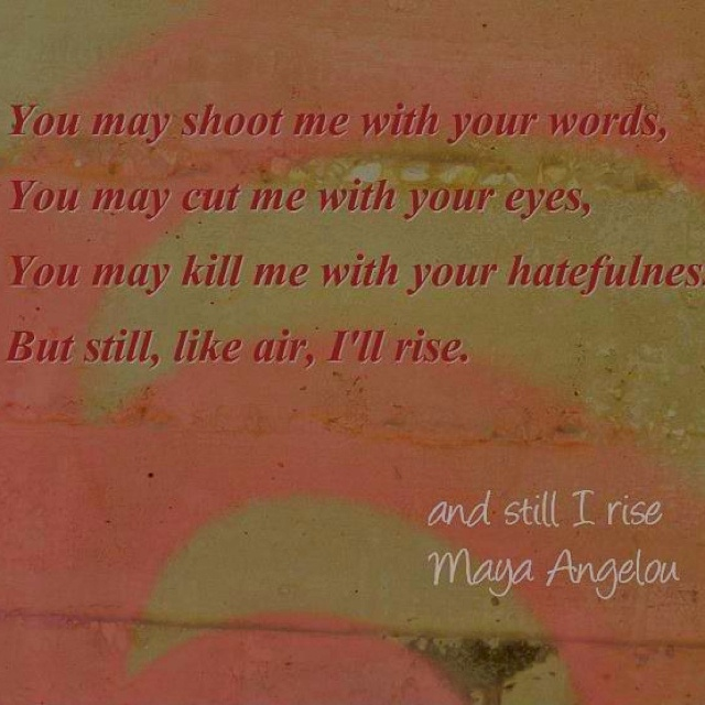 analysis of maya angelous still i rise Get an answer for 'please give a detailed analysis for maya angelou's poem still i rise' and find homework help for other maya angelou, still i rise questions at enotes.
