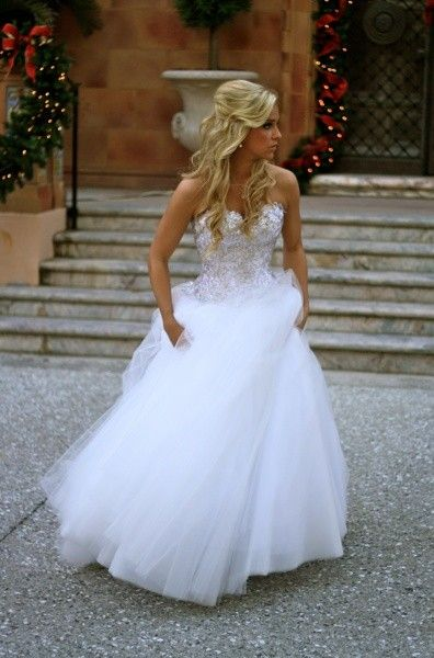Intricate sparkle beading with tulle skirt. GORGEOUS