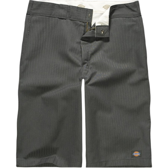DICKIES Twill Stripe Mens Work Shorts  charcoal