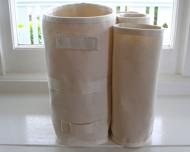 rectangular shelf storage bag and cylinders