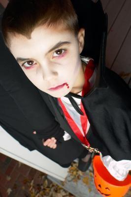 Wyatt wants to be a vampire for Halloween. vampire costume/make up