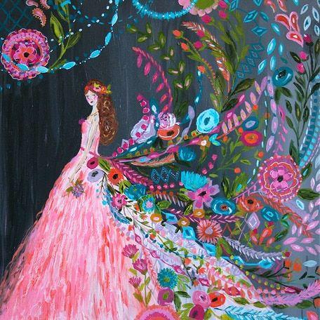 Wheatpaste Dream Catcher Canvas Wall Art